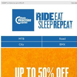 [Chain Reaction Cycles] ⭐ Up to 50% off Clearance ⭐