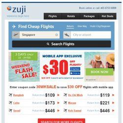 [Zuji] BQ.sg: You've got access to Weekend Flash Sale - Save up to $30 off !
