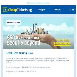 [cheaptickets.sg] 🌸 Exclusive Spring Sale to Korea, Japan and more from only $554