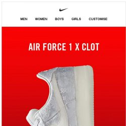 [Nike] Member Exclusive: Air Force 1 x CLOT