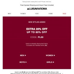 [LUISAVIAROMA] Up to 80% off? The sale continues