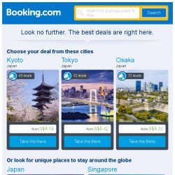[Booking.com] Kyoto, Tokyo, or Osaka? Get great deals, wherever you want to go