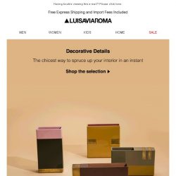 [LUISAVIAROMA] Interior needs an update? It's in the details...