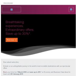 [Qatar] Breathtaking experiences. Extraordinary offers. Save up to 30%*.