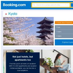 [Booking.com] Deals in Kyoto from S$ 74