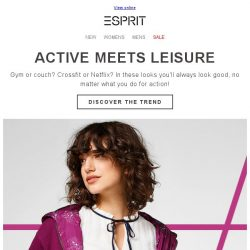 [Esprit] New in: active meets leisure