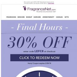 [FragranceNet] Because your loyalty is valued ★ 30% Off