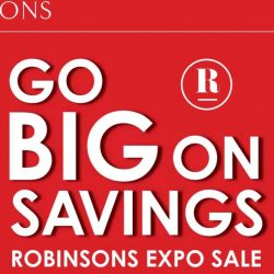 Robinsons: Expo Sale 2018 with Up to 80% OFF Fashion, Beauty, Toiletries, Homewares & More
