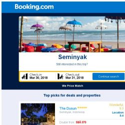 [Booking.com] Prices in Seminyak dropped again – act now and save more!