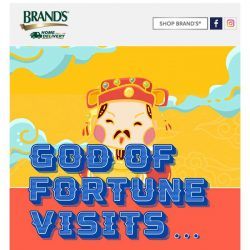 [Brand's] Find out what happened when God of Fortune visited our CNY Top Spender!