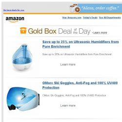 [Amazon] Save up to 25% on Ultrasonic Humidifiers from...
