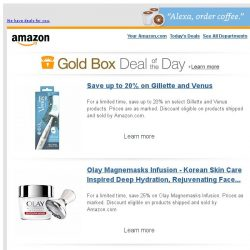 [Amazon] Save up to 20% on Gillette and Venus