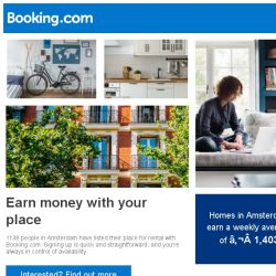 [Booking.com] 1138 people earn € 1,403 in Amsterdam with us – isn't it time you joined them?