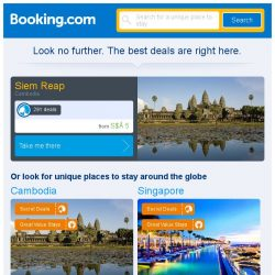 [Booking.com] Deals in Siem Reap from S$ 5