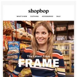 [Shopbop] FRAME's latest cool-kid collection