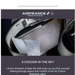 [AIRFRANCE] Mrs , welcome in Business Class!
