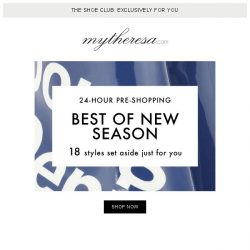 [mytheresa] Exclusive 24-hour Shoe Club pre-shopping: best of new season