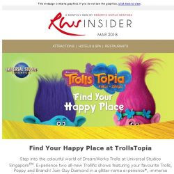 [Resorts World Sentosa] March into a month of colourful experiences at Resorts World Sentosa