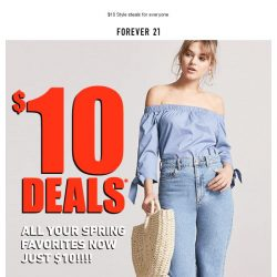 [FOREVER 21] ⁉️ EVERYTHING'S $10 ⁉️