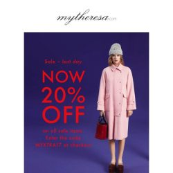 [mytheresa] Sale last day: now an extra 20% off on all sale items