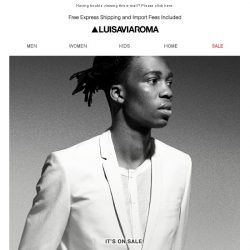 [LUISAVIAROMA] Extra 20% off: Our biggest sale continues