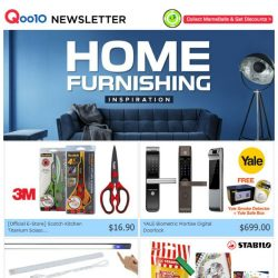 [Qoo10] [Weekend's Special Picks!] $8.90 STABILO Point 88 Mini Fineliners(15pcs!), $9.90 LED Touch Bar Light & $16.90 3M Scotch Titanium Kitchen Scissors