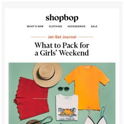 [Shopbop] What to bring on your next girls' weekend
