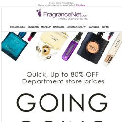 [FragranceNet] Yes, really: Up to 80% OFF your favorite fragrances