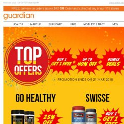 [Guardian] ⚡️ TOP offers for March! - 1 FOR 1 | UP TO 40% OFF | BUNDLE DEALS