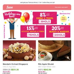 [Fave] Celebrate the holiday with Mandarin Orchard Singapore's Premium Cake!