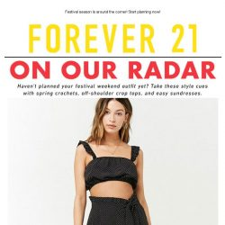 [FOREVER 21] Next Up: Festival roundup of 100+ styles!