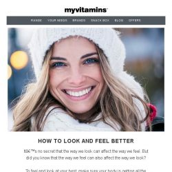 [MyVitamins] How To Look And Feel Better With myvitamins