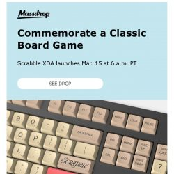 [Massdrop] Massdrop x Hasbro XDA Scrabble Custom Keycap Set: Available Thursday