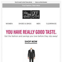 [Saks OFF 5th] This Calvin Klein item caught your eye & there's only a few left!