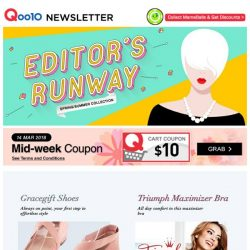 [Qoo10] Check out Qoo10's wide range of fashion deals not to be missed! $10 Cart Coupon Up For Grabs!