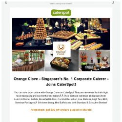 [CaterSpot] New on CaterSpot - Orange Clove Catering, Saveur & many more!