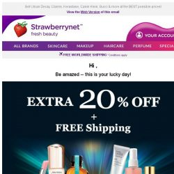[StrawberryNet] , Extra 20% Off + Free Shipping, 5 days only. Be Amazed!