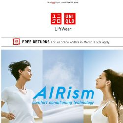 [UNIQLO Singapore] Better your everyday with AIRism.
