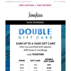 [Neiman Marcus] Surprise! Bonus day to double your gift card