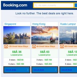 [Booking.com] Singapore, Hong Kong and Kuala Lumpur -- great last-minute deals as low as S$ 13!