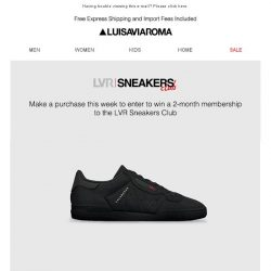 [LUISAVIAROMA] Want access to the LVR Sneakers Club? Win it!