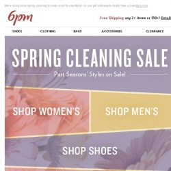 [6pm] Spring Cleaning Sale is on! (Don't miss it...)