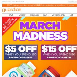 [Guardian] 💥 Get ahead on savings with our March Madness promos!