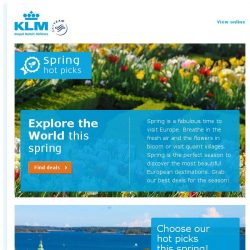 [KLM] Check out our spring destinations on sale from SGD 823!