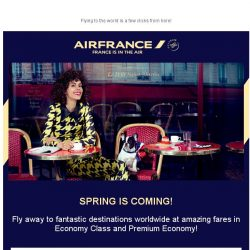[AIRFRANCE] ✈ Spring deals to the world!