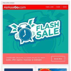 [AirAsiaGo] ⌚ Flash Tuesday Special | Enjoy discounts up to 35% off! ⌚