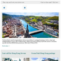 [Cathay Pacific Airways] Online Easter sale – special fares from SGD268 all-in