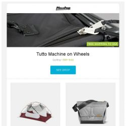 [Massdrop] Tutto Machine on Wheels, MSR Hubba NX Tents, Peak Design Everyday Bags and more...