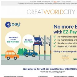 [Great World City]  EZ-Pay now accepted at Great World City!