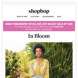 [Shopbop] Up to 75% off during sale on sale + floral prints ready for the picking